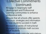 collective commitments continued