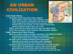 an urban civilization