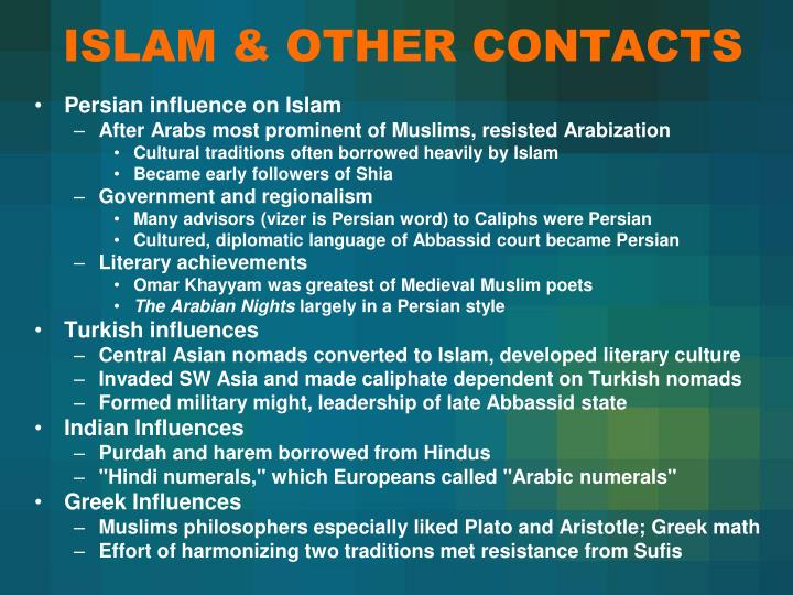 ISLAM & OTHER CONTACTS