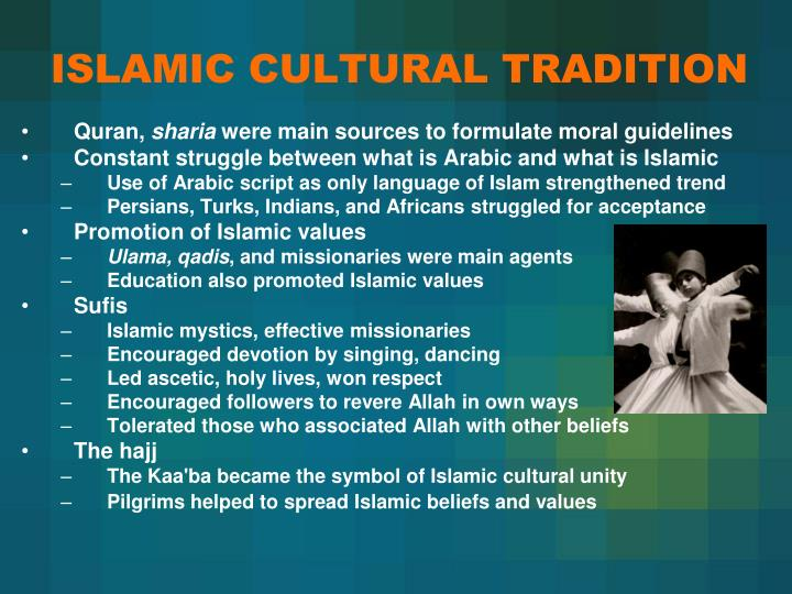 ISLAMIC CULTURAL TRADITION