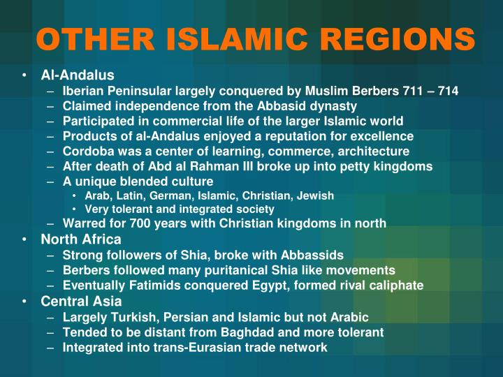 OTHER ISLAMIC REGIONS