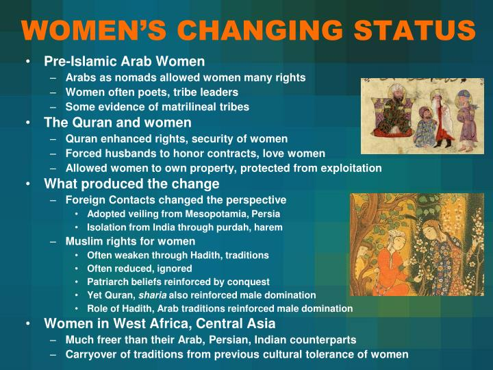 WOMEN'S CHANGING STATUS