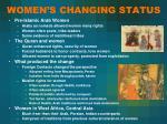 women s changing status