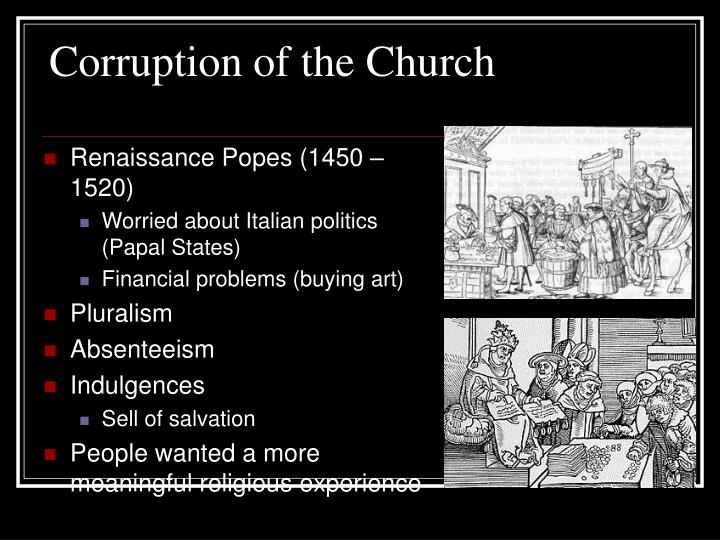 Corruption of the Church