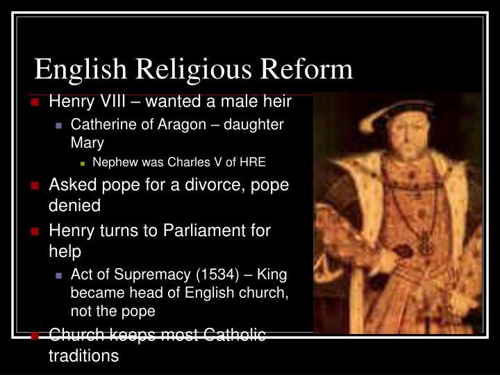 English Religious Reform