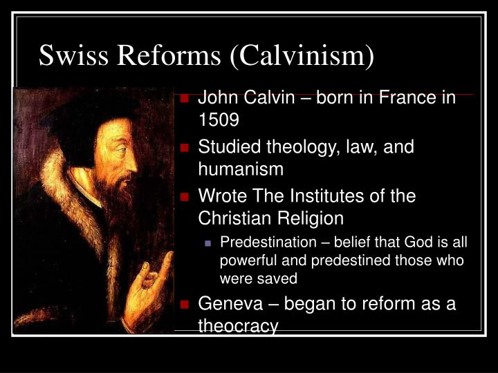Swiss Reforms (Calvinism)
