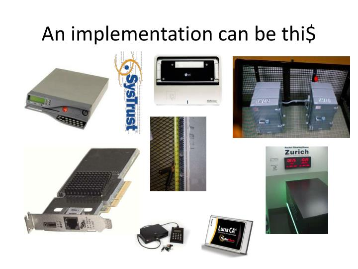 An implementation can be