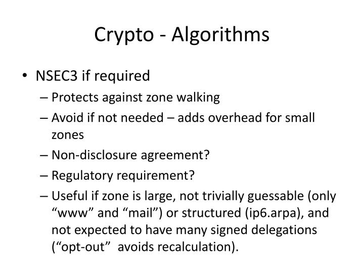Crypto - Algorithms