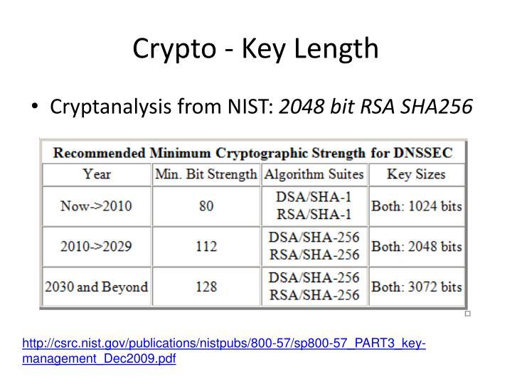 Crypto - Key Length