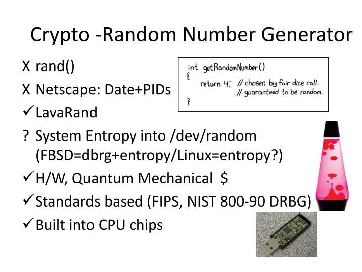 Crypto -Random Number Generator