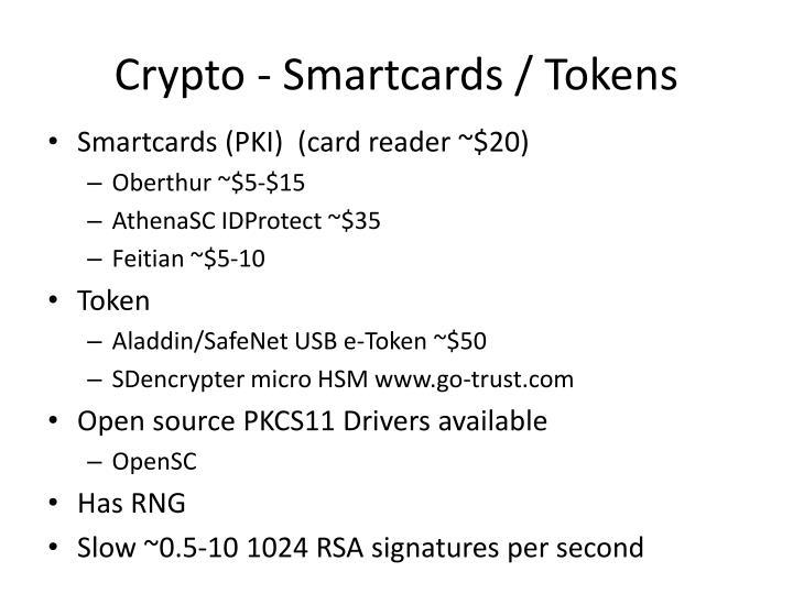 Crypto - Smartcards / Tokens