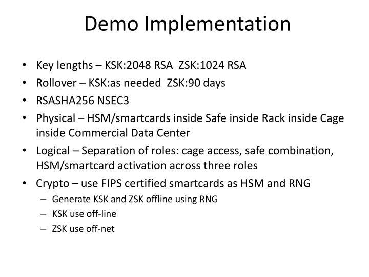 Demo Implementation