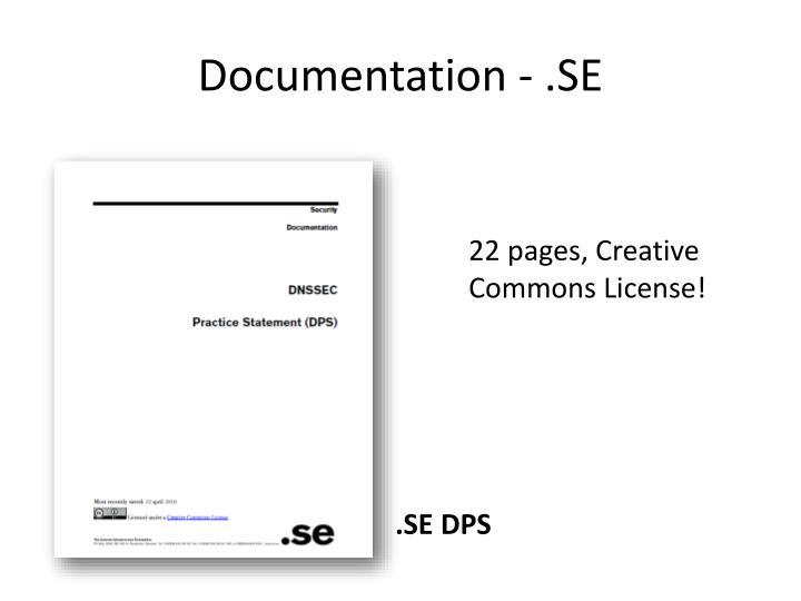 Documentation - .SE