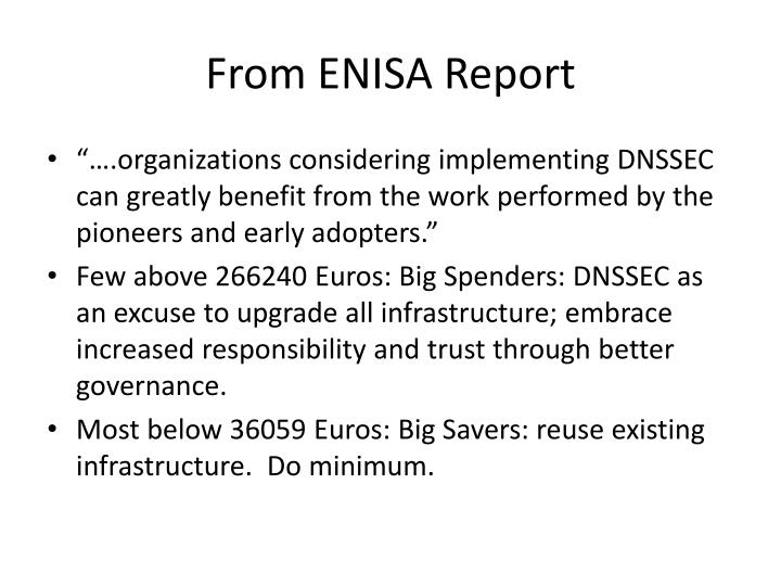From ENISA Report