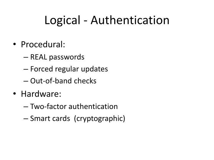 Logical - Authentication