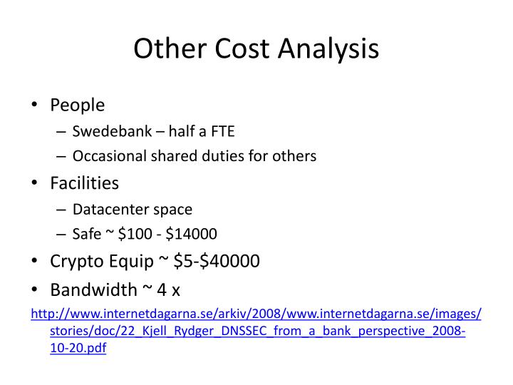 Other Cost Analysis