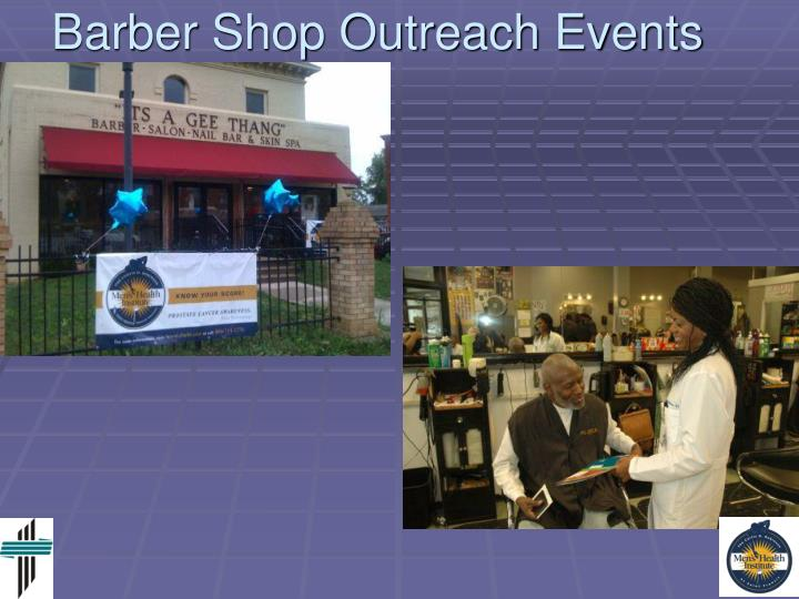 Barber Shop Outreach Events