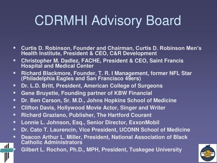 CDRMHI Advisory Board