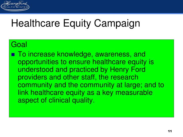 Healthcare Equity Campaign