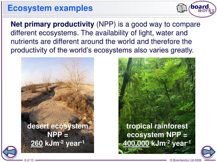 Ecosystem examples