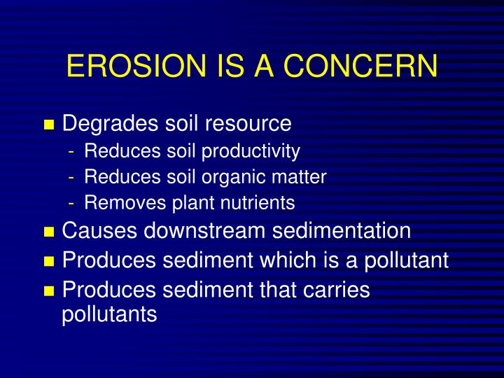 EROSION IS A CONCERN