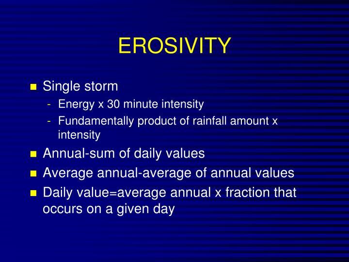 EROSIVITY