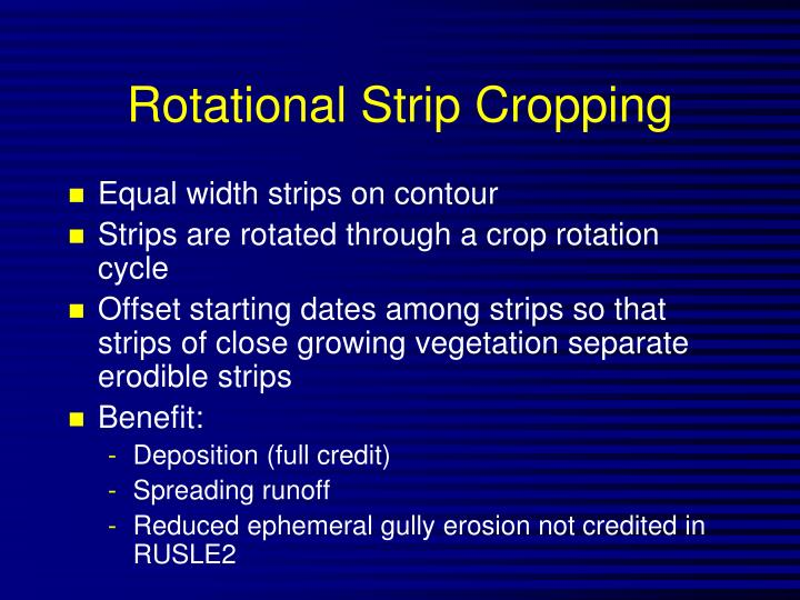 Rotational Strip Cropping