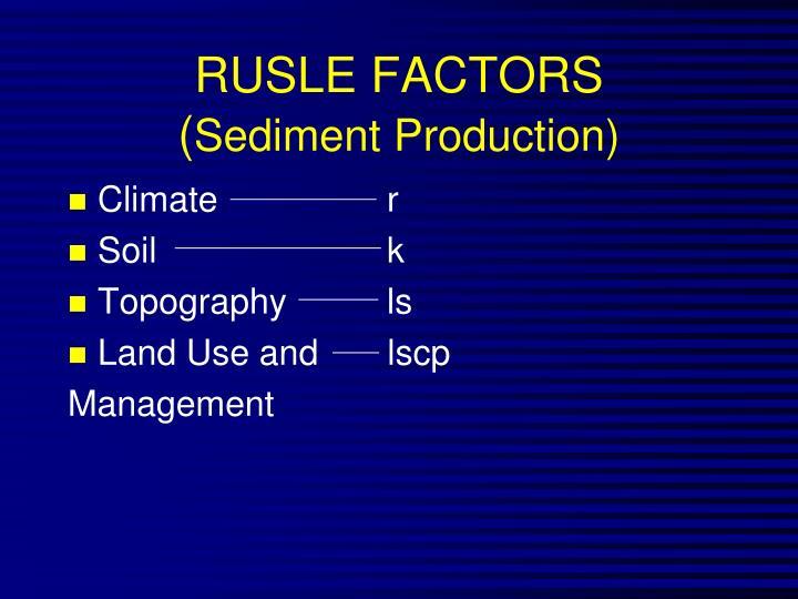 RUSLE FACTORS