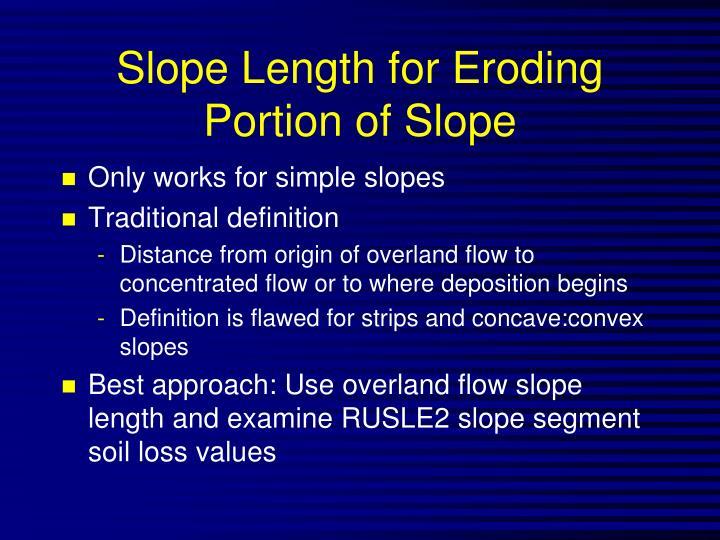 Slope Length for Eroding Portion of Slope