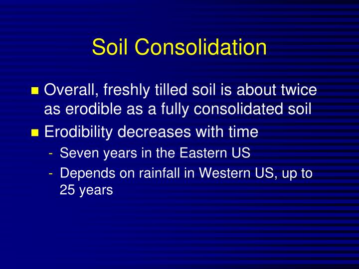 Soil Consolidation