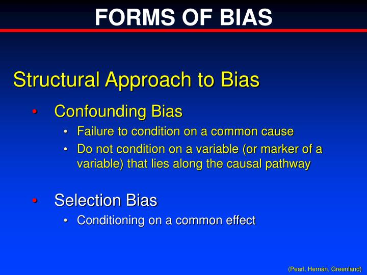 FORMS OF BIAS