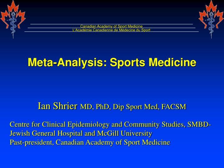Canadian Academy of Sport Medicine