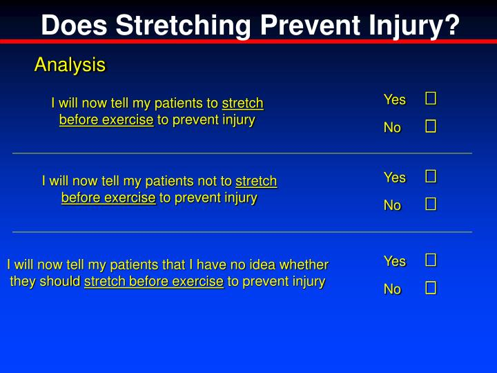 Does Stretching Prevent Injury?