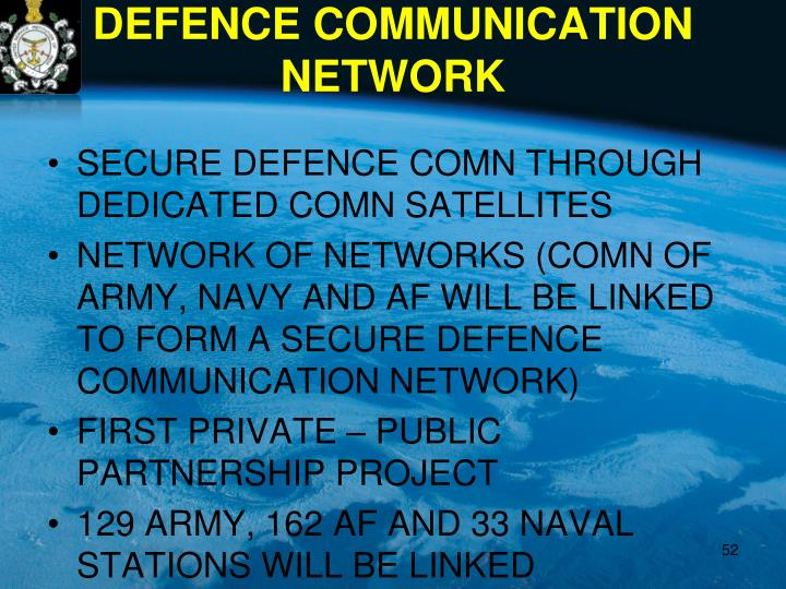 SECURE DEFENCE COMN THROUGH DEDICATED COMN SATELLITES