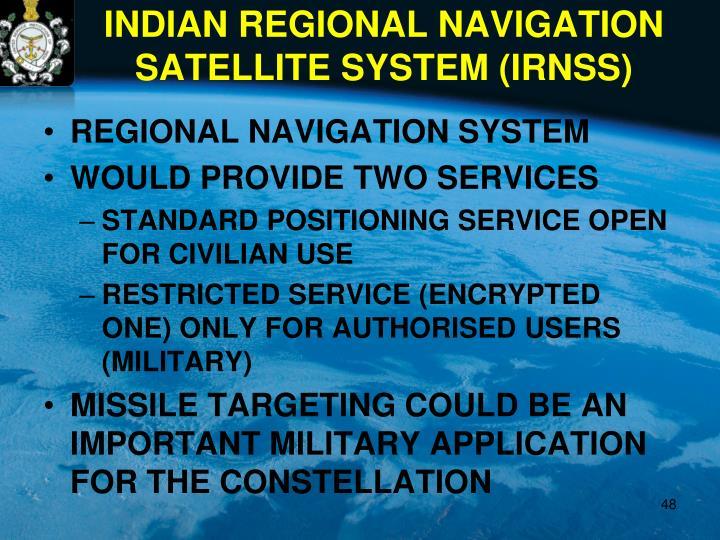 REGIONAL NAVIGATION SYSTEM