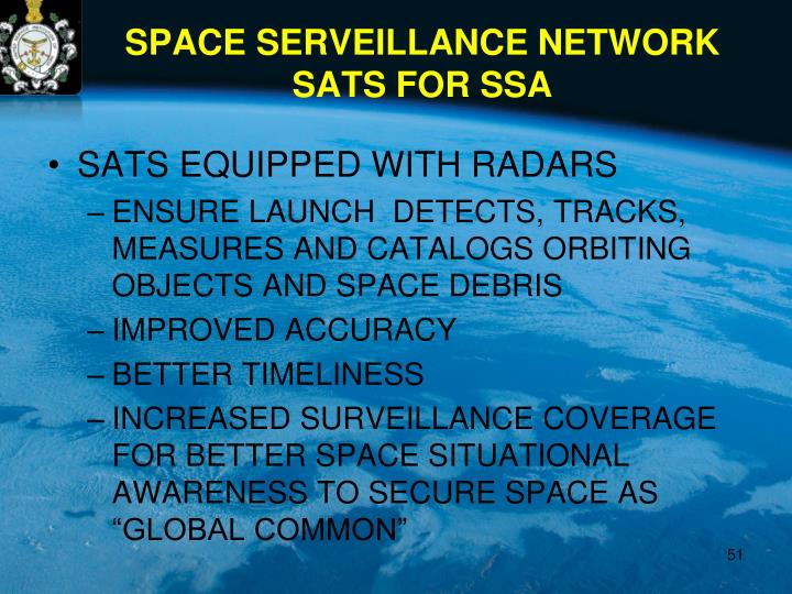 SATS EQUIPPED WITH RADARS