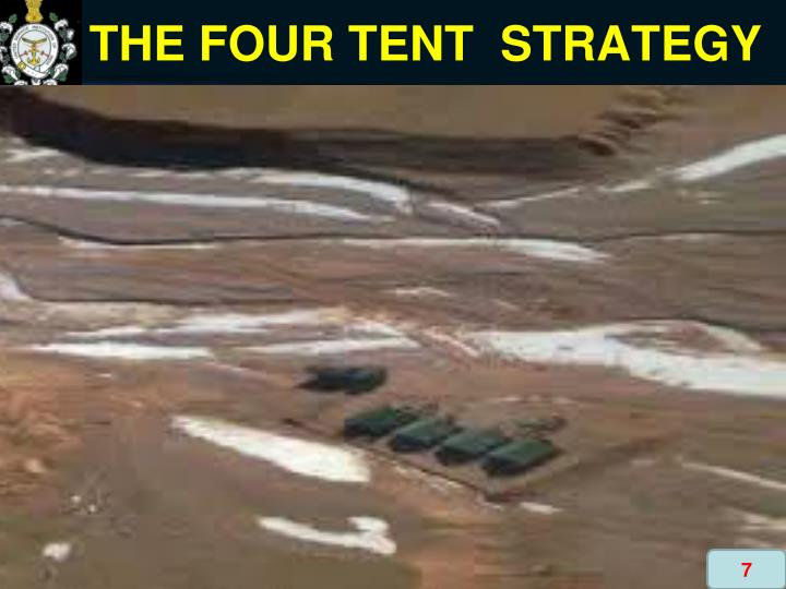 THE FOUR TENT  STRATEGY