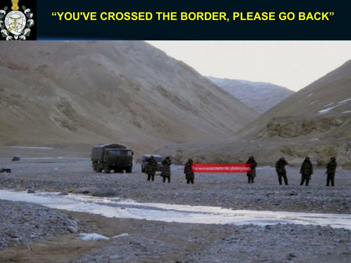 """YOU'VE CROSSED THE BORDER, PLEASE GO BACK"""