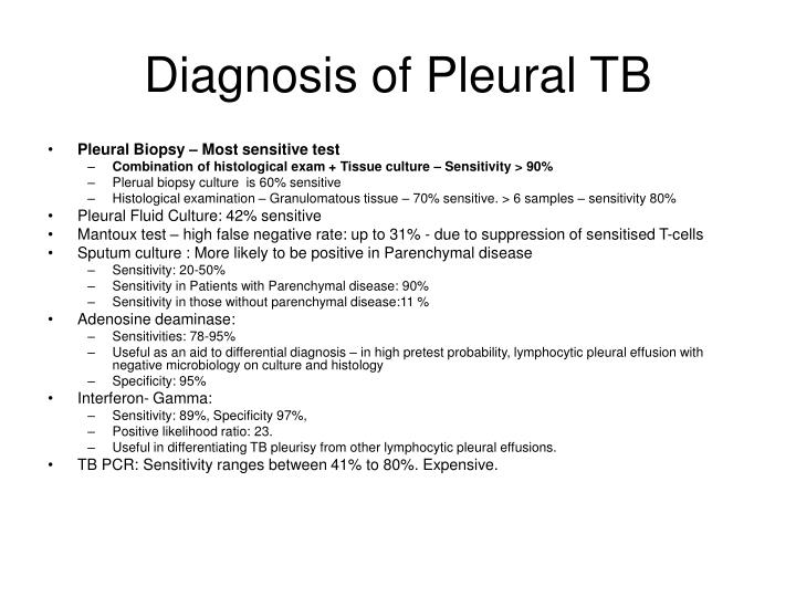 Diagnosis of Pleural TB