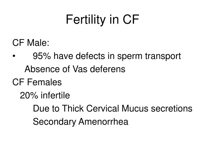 Fertility in CF