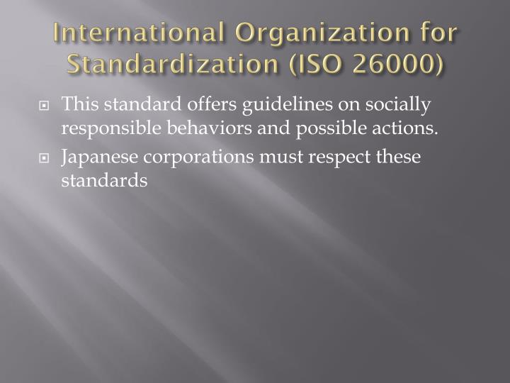 International Organization for Standardization (ISO 26000)