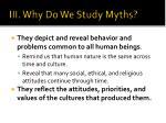 iii why do we study myths