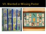 vii wanted or missing poster