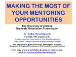 making the most of your mentoring opportunities