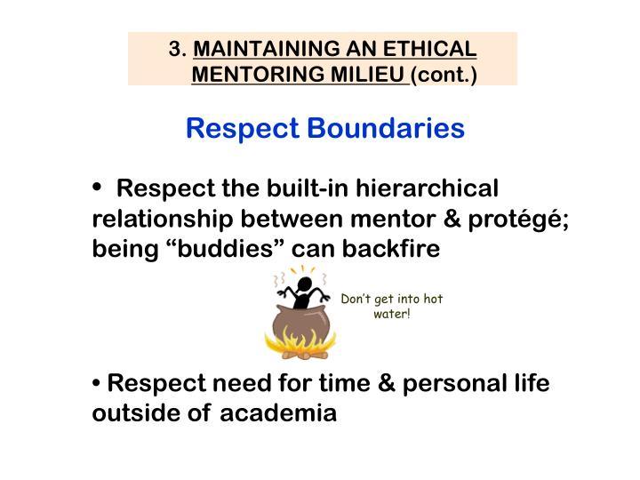 Respect Boundaries