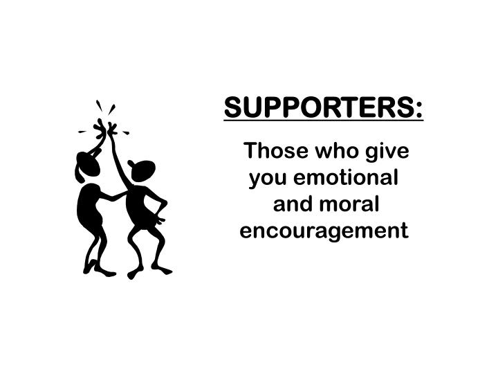 SUPPORTERS:
