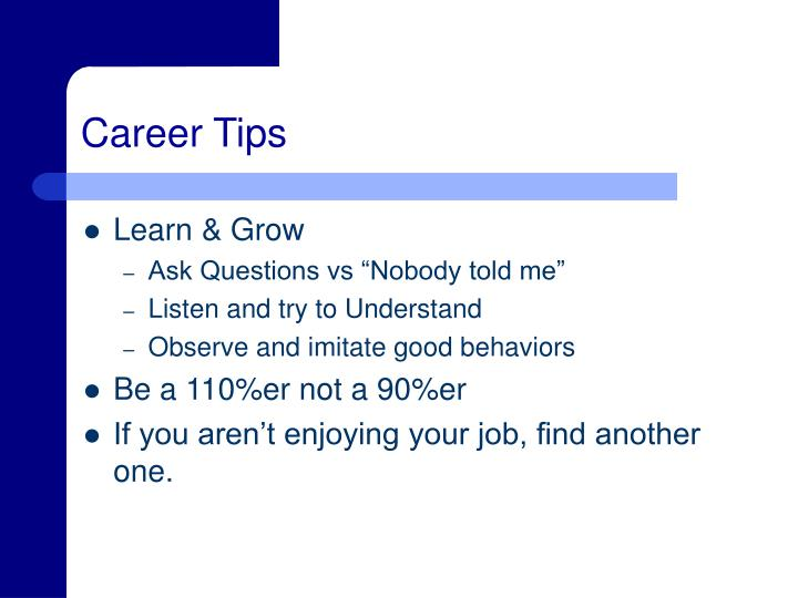 Career Tips