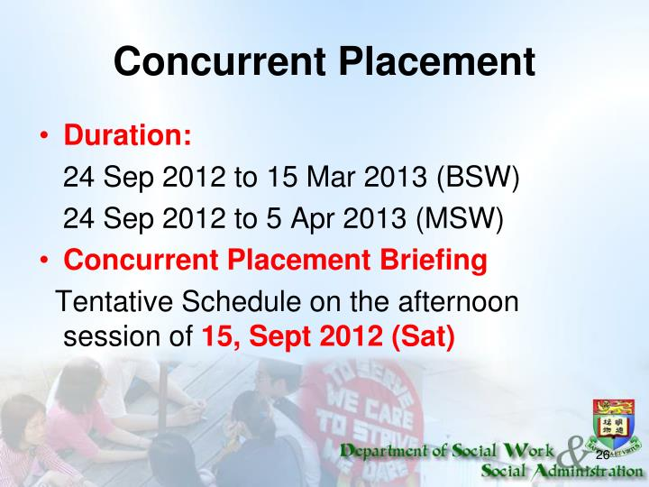 Concurrent Placement