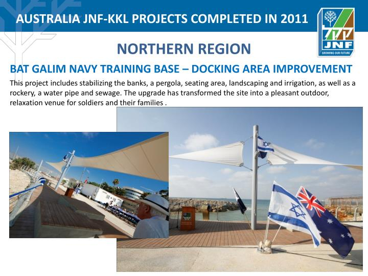 AUSTRALIA JNF-KKL PROJECTS COMPLETED IN 2011