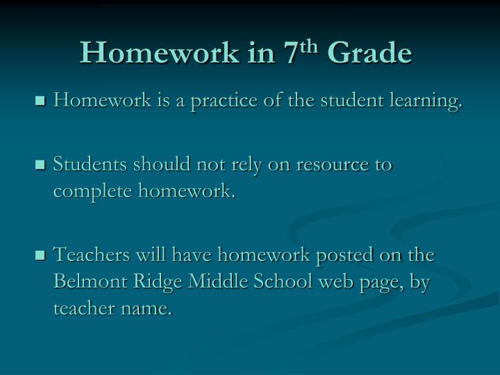 Homework in 7